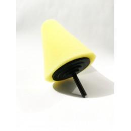 Evoxa Sleeker Stożek polerski duży – gąbka na trzpieniu Żółty