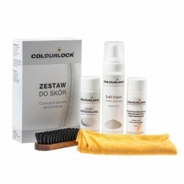 COLOURLOCK Zestaw SOFT + Protector - zestaw do czyszczenia skóry z mleczkiem pielęgnującym