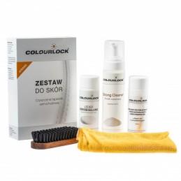 COLOURLOCK Zestaw STRONG + Protector - zestaw do czyszczenia skóry z mleczkiem pielęgnującym