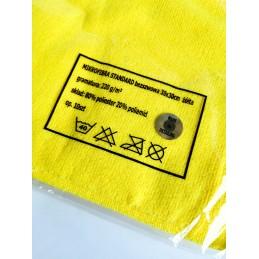 Cosmetic4car bezszwowa mikrofibra Standard Edgeless Premium ŻÓŁTA 220gsm 30x30cm Opakowanie (10sztuk)