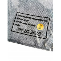 Cosmetic4car bezszwowa mikrofibra Standard Edgeless Premium SZARA 220gsm 30x30cm Opakowanie (10sztuk)