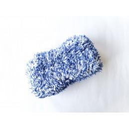 Cosmetic4car Blue Hornet Microfiber Car Wash SPONGE - gąbka do mycia biało niebieska
